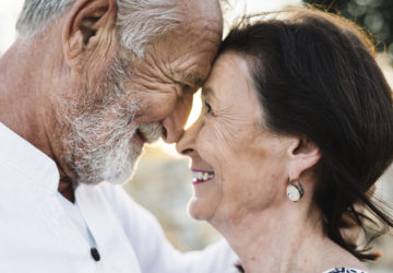 Mature couple still in love