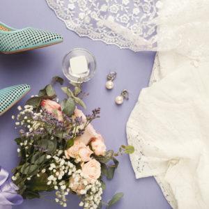 Wedding preparation top view